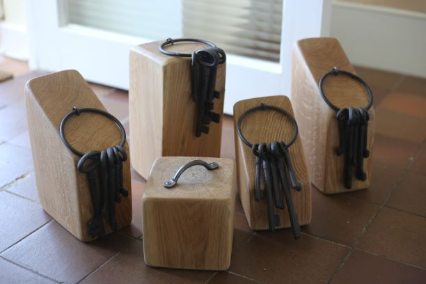 handmade oak door stops
