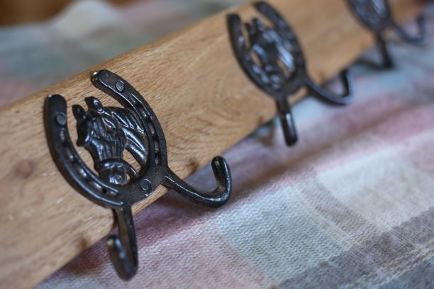handmade oak coat rack